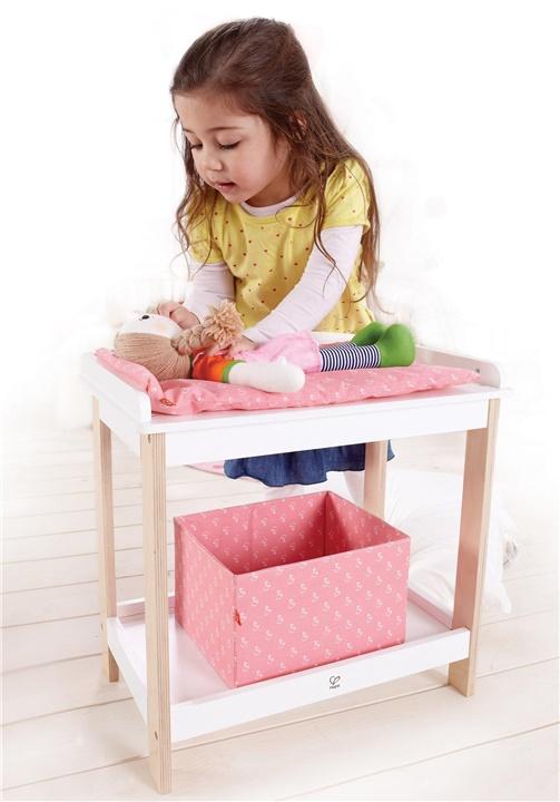 Table langer en bois pour poup e scolart for Accessoires table a langer