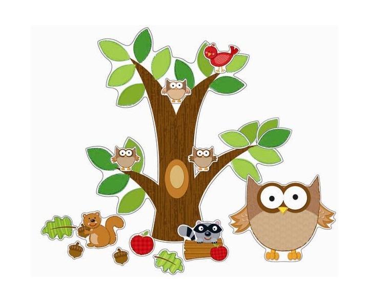 D coration arbre hibou scolart for Decoration hibou