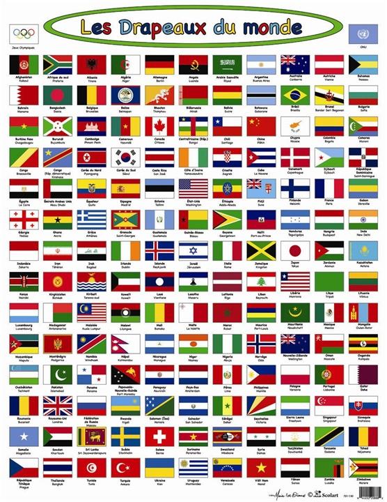 les drapeaux du monde -