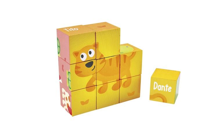puzzle cube en bois p p 9 mx scolart. Black Bedroom Furniture Sets. Home Design Ideas
