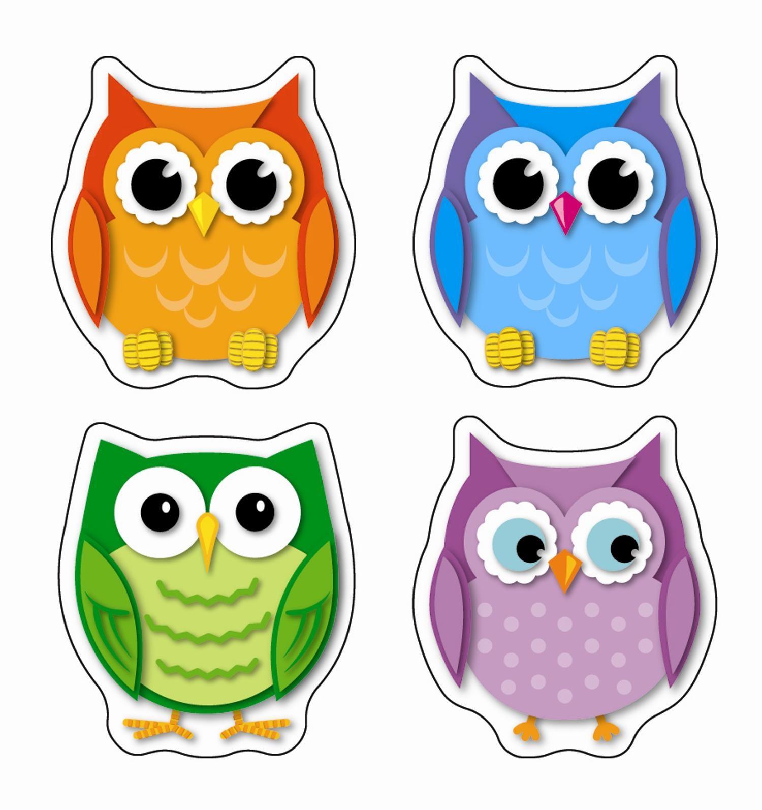 Classroom Decoration Printables Free ~ Autocollants hiboux scolart