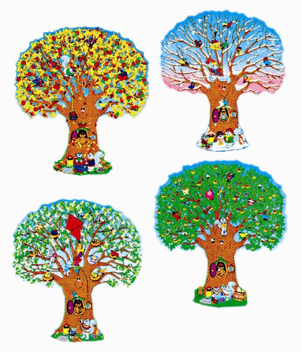 D coration arbres des 4 saisons scolart - Dessin 4 saisons ...