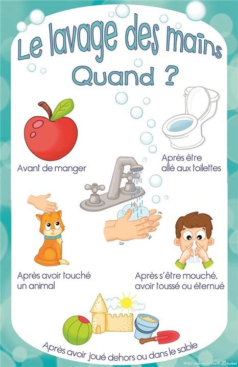 Lavage des mains quand scolart - Coloriage lavage des mains ...