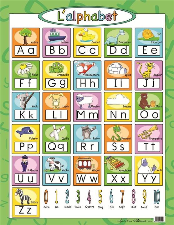 Affiche L Alphabet Scolart