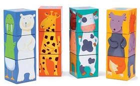 12 cubes animaux