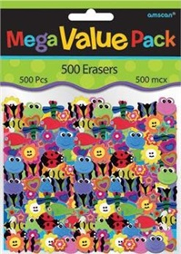 500 mini effaces assorties